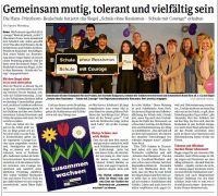 Zeitungsartikel_Verleihung_Courage_Schulen